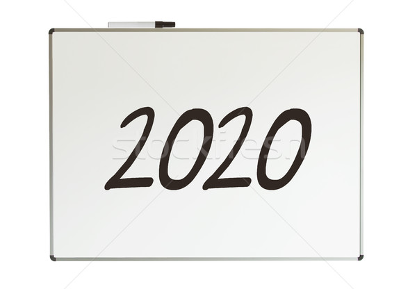 2020, message on whiteboard Stock photo © michaklootwijk