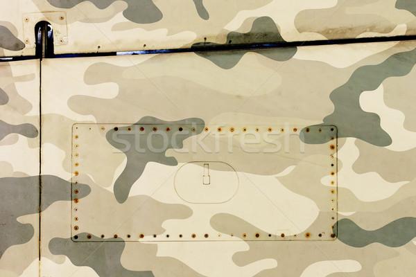Stockfoto: Stuk · vliegtuigen · grunge · metaal · leger · oude