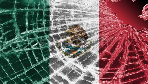 Broken ice or glass with a flag pattern, Mexico Stock photo © michaklootwijk