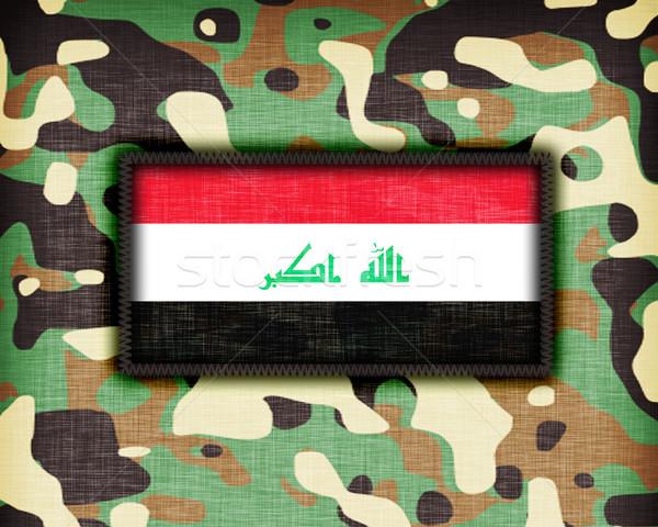 Tarnung einheitliche Irak Flagge Textur abstrakten Stock foto © michaklootwijk