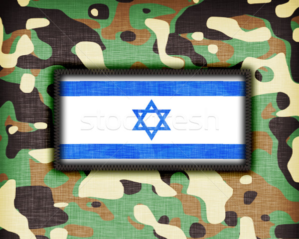Camouflage uniform Israël vlag textuur abstract Stockfoto © michaklootwijk