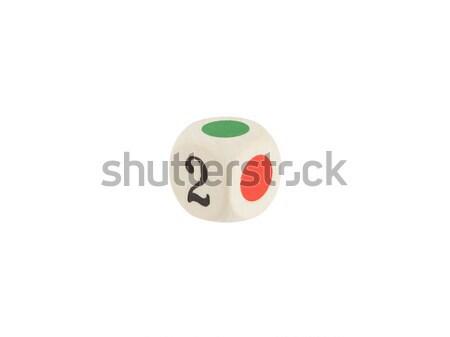 Estranho dados isolado branco jogar jogo Foto stock © michaklootwijk