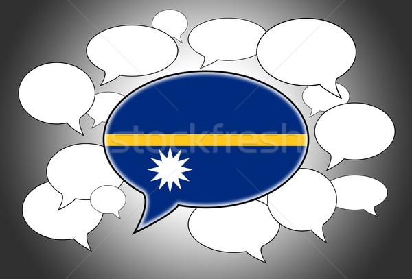 Kommunikáció beszédfelhő hang Nauru absztrakt felirat Stock fotó © michaklootwijk
