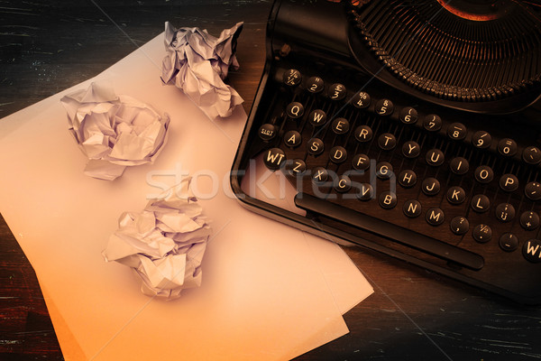 Close-up of an old typewriter with paper Stock photo © michaklootwijk