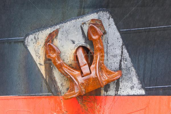 Büyük paslı çapa eski Metal Stok fotoğraf © michaklootwijk