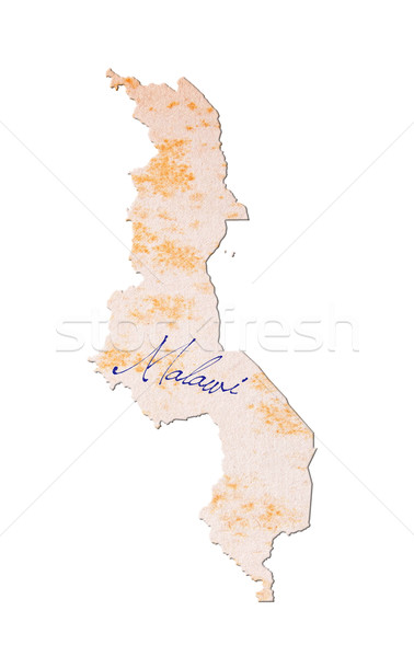 Old paper with handwriting - Malawi Stock photo © michaklootwijk