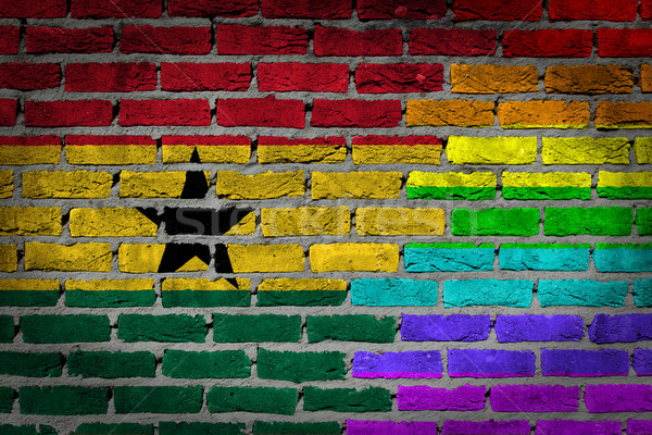 Dark brick wall - LGBT rights - Ghana Stock photo © michaklootwijk