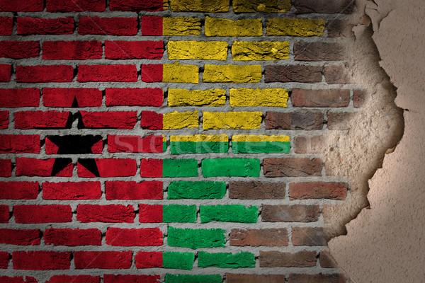 Ciemne murem gipsu Gwinea tekstury banderą Zdjęcia stock © michaklootwijk
