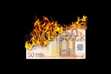 Flag burning - Russia Stock photo © michaklootwijk