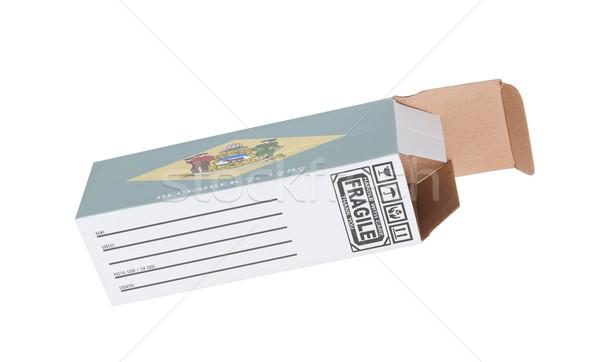 Exporter produit Delaware papier boîte Photo stock © michaklootwijk