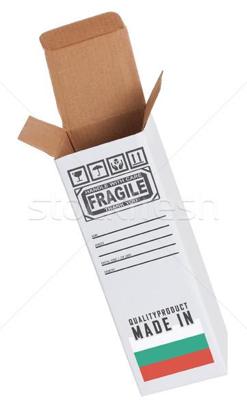 Exporteren product Bulgarije papier vak Stockfoto © michaklootwijk