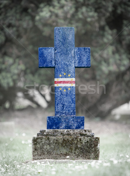 Gravestone in the cemetery - Cape Verde Stock photo © michaklootwijk