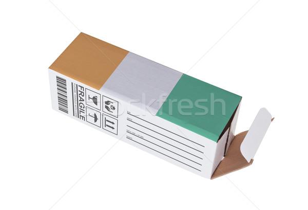 Eksport produktu Wybrzeże Kości Słoniowej papieru polu Zdjęcia stock © michaklootwijk