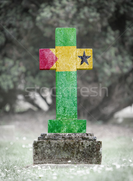 Gravestone in the cemetery - Sao Tome Stock photo © michaklootwijk