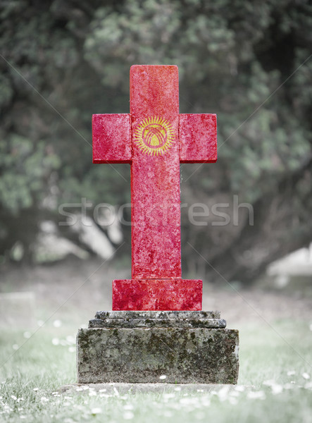 Gravestone in the cemetery - Kyrgyzstan Stock photo © michaklootwijk