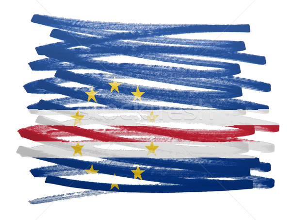 Flag illustration - Cape Verde Stock photo © michaklootwijk