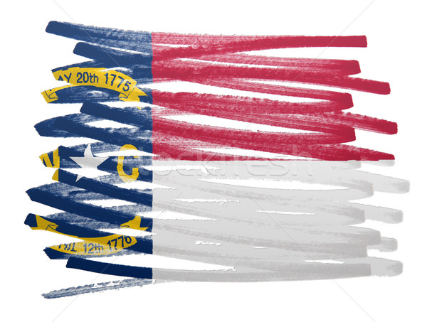 Vlag illustratie North Carolina pen business verf Stockfoto © michaklootwijk