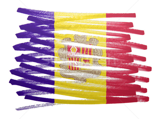Vlag illustratie Andorra pen business verf Stockfoto © michaklootwijk