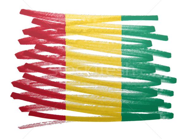 Bayrak örnek Gine kalem iş boya Stok fotoğraf © michaklootwijk