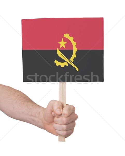 El küçük kart bayrak Tiftik dokuma Stok fotoğraf © michaklootwijk