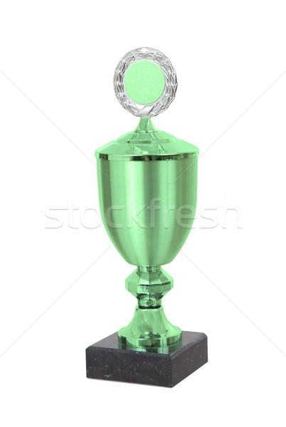 Trofeum kubek odizolowany biały sportu tle Zdjęcia stock © michaklootwijk