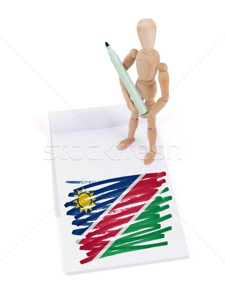 манекен рисунок Намибия флаг бумаги Сток-фото © michaklootwijk