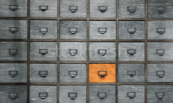 Apothecary wood chest with drawers Stock photo © michaklootwijk