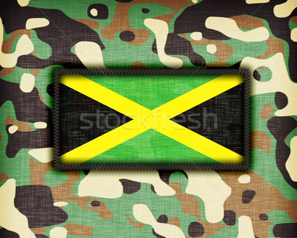 Amy camouflage uniform, Jamaica Stock photo © michaklootwijk