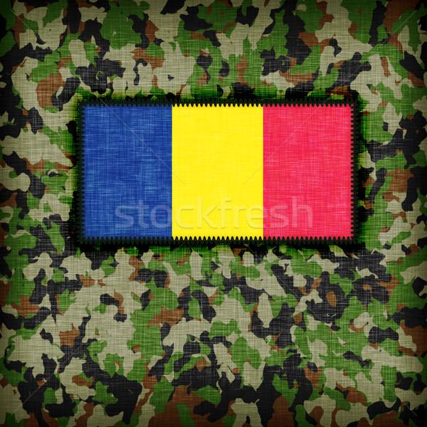 Camouflage uniform Roemenië vlag textuur abstract Stockfoto © michaklootwijk