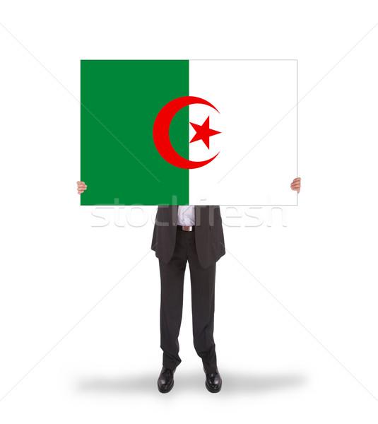 бизнесмен большой карт флаг Алжир Сток-фото © michaklootwijk