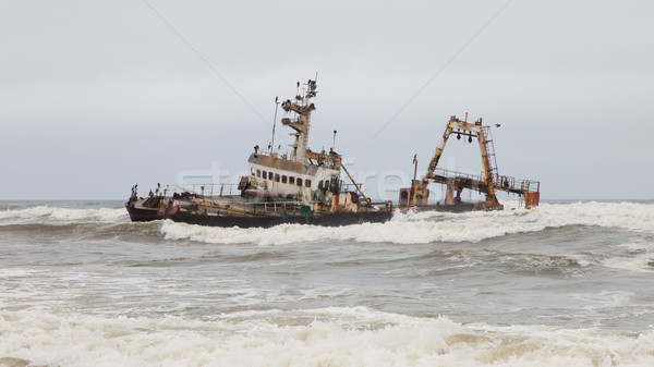 Zeila Shipwreck stranded on 25th August 2008 in Namibia Stock photo © michaklootwijk