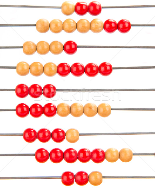 Close-up of an euro symbol on an old abacus Stock photo © michaklootwijk