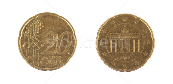 Isolated 20 Euro cent coins Stock photo © michaklootwijk
