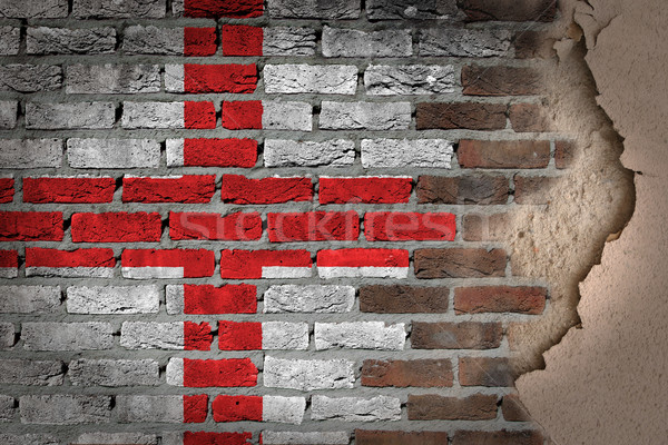 Sombre mur de briques plâtre Angleterre texture pavillon Photo stock © michaklootwijk