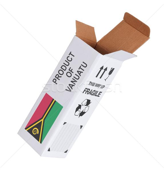 Exportar producto Vanuatu papel cuadro Foto stock © michaklootwijk