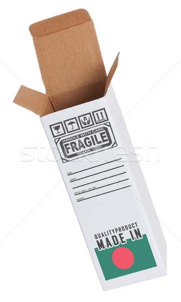 Export termék Banglades kinyitott papír doboz Stock fotó © michaklootwijk