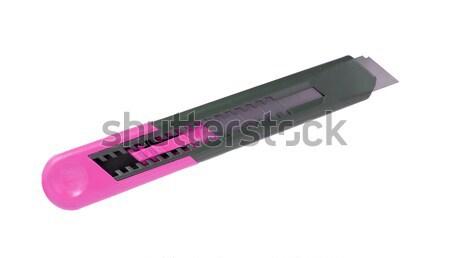 Roze markeerstift geïsoleerd witte kantoor papier Stockfoto © michaklootwijk