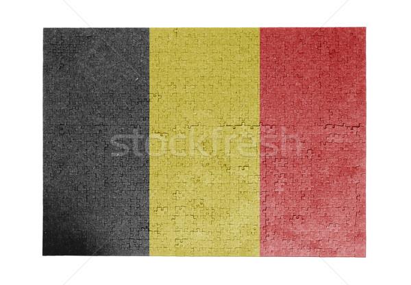 Nagy kirakós játék 1000 darabok Belgium zászló Stock fotó © michaklootwijk