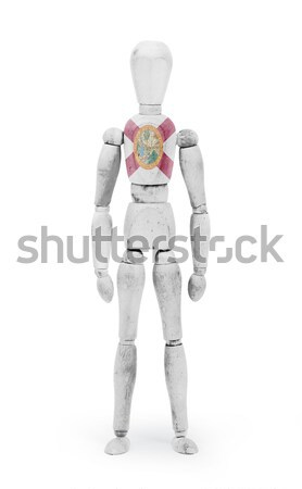 Wood figure mannequin with US state flag bodypaint - California Stock photo © michaklootwijk