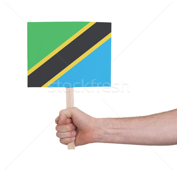 стороны небольшой карт флаг Танзания Сток-фото © michaklootwijk