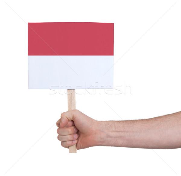 Mão pequeno cartão bandeira Mônaco Foto stock © michaklootwijk