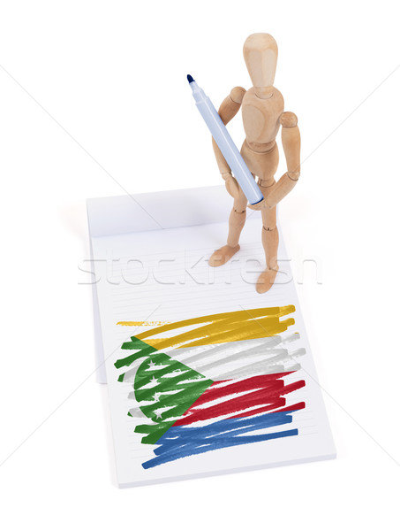 Wooden mannequin made a drawing - Comoros Stock photo © michaklootwijk