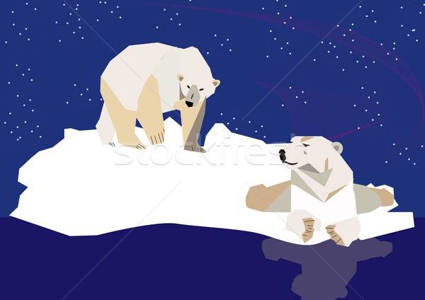 Gleccser jég vadvilág vad Stock fotó © MichalEyal