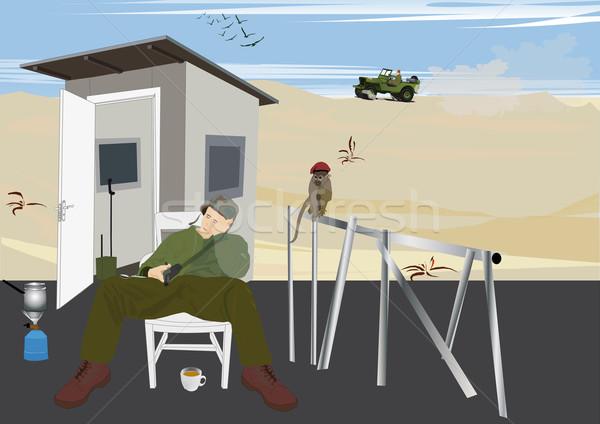 Hoeden kinderen aap soldaat militaire Stockfoto © MichalEyal