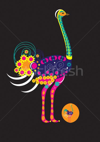 装飾された ダチョウ 自然 ストックフォト © MichalEyal