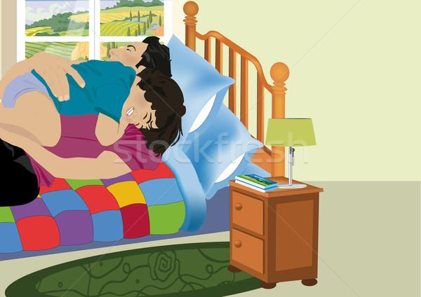 слез ребенка спальня Сток-фото © MichalEyal