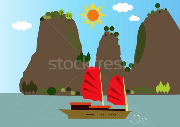 Vietnam view Stock photo © MichalEyal