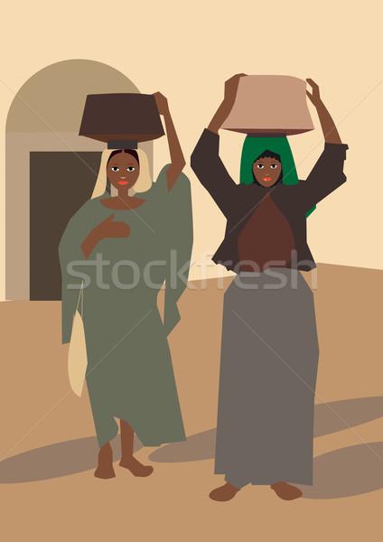 женщины возврат рынке Сток-фото © MichalEyal