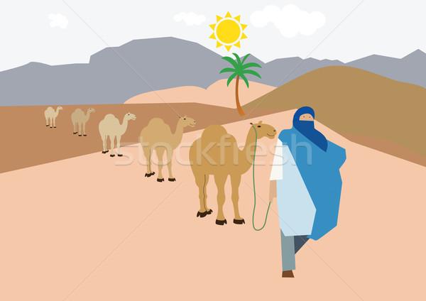 Sahara zand kleding hot Stockfoto © MichalEyal