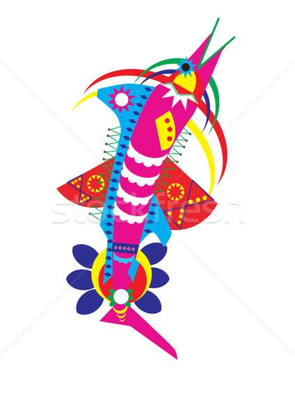 Dekore edilmiş balık Stok fotoğraf © MichalEyal